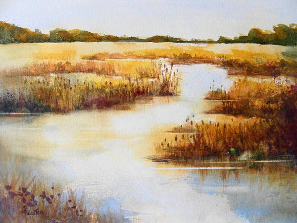 Painting - Wetland Gold by Judy Fischer Walton