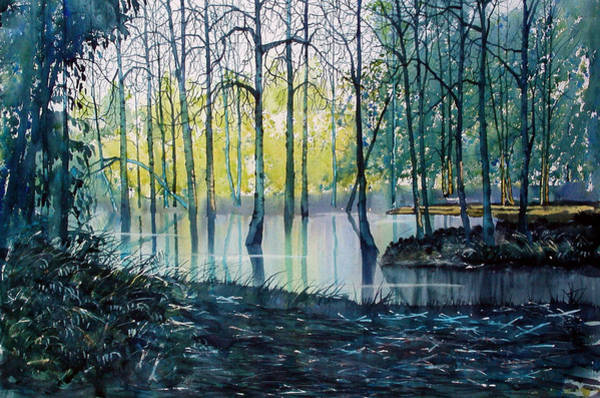 Wall Art - Painting - Wetlands On Skipwith Common by Glenn Marshall