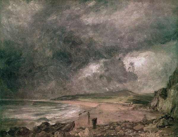 Wall Art - Photograph - Weymouth Bay With Approaching Storm Oil On Canvas by John Constable