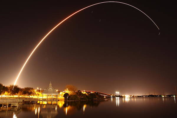 Delta Iv Photograph - Wgs-4 Launch Aboard Delta-iv Rocket by John Moss
