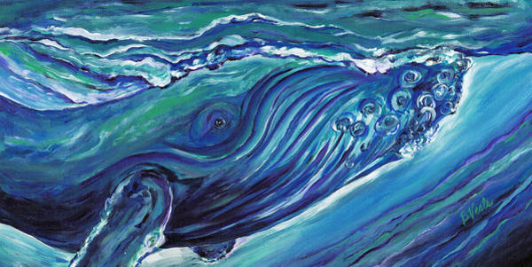Save The Whales Wall Art - Painting - Whale Action by Bev Veals