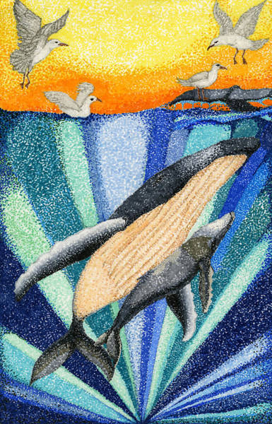 Ocean Drawing - Whale By Sarah Arim Kong by California Coastal Commission