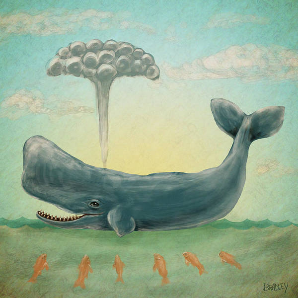 Cachalot Wall Art - Painting - Whale by Diane Bradley