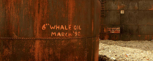 Save The Whales Photograph - Whale Oil Tanks by Amanda Stadther