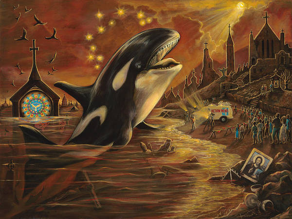 Wall Art - Painting - Whale Speaks by Brenda Ferrimani