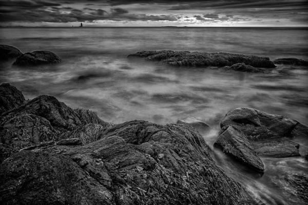 Photograph - Whaleback Light At Sunrise- 3381 by Jeff Sinon