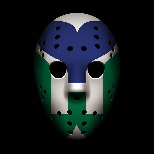 Wall Art - Photograph - Whalers Goalie Mask by Joe Hamilton