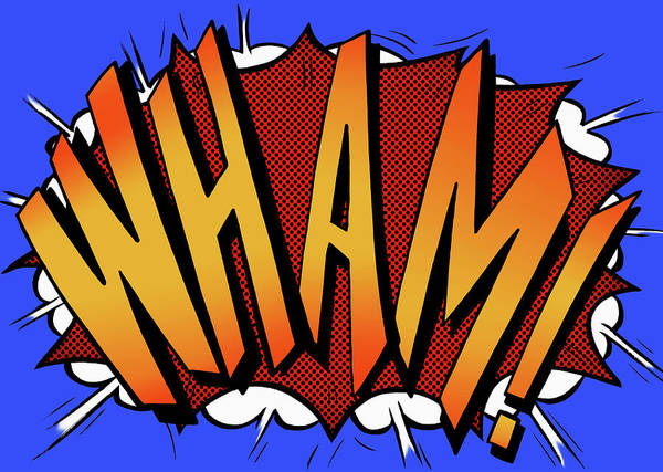 Text Digital Art - Wham Comic Book Text Sound Effect by Jacquie Boyd
