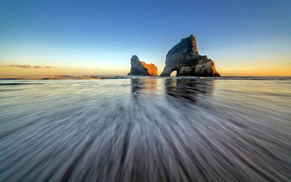 Arch Wall Art - Photograph - Wharaiki Beach by Hua Zhu