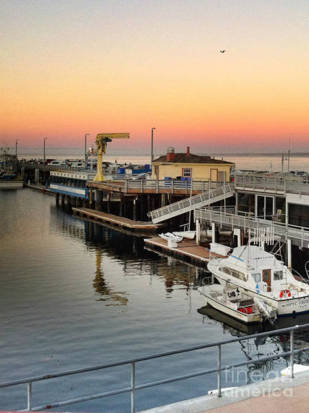 Photograph - Wharf #2 In Monterey At Sunset by Charlene Mitchell