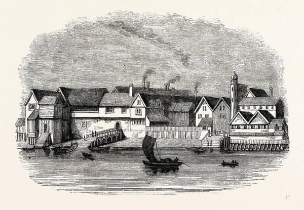 Steel Drawing - Wharf German Merchants Steel-yard Thames Street by Litz Collection
