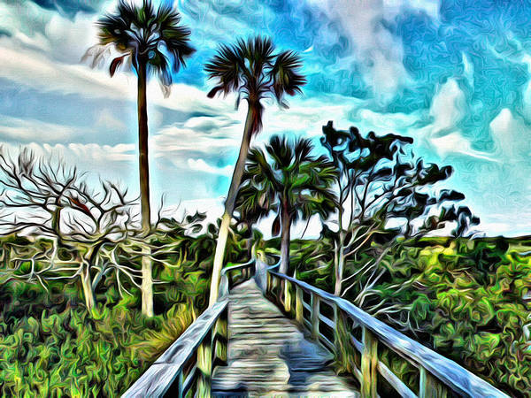 Flagler Beach Photograph - What A Beautiful Boardwalk by Alice Gipson