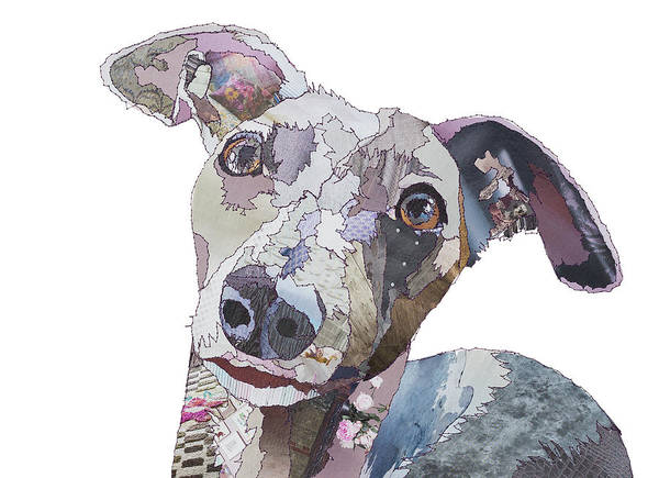 Stitch Painting - What A Whippet by MGL Meiklejohn Graphics Licensing