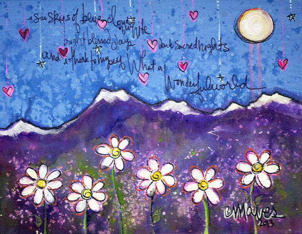 Painting - What A Wonderful World by Laurie Maves ART