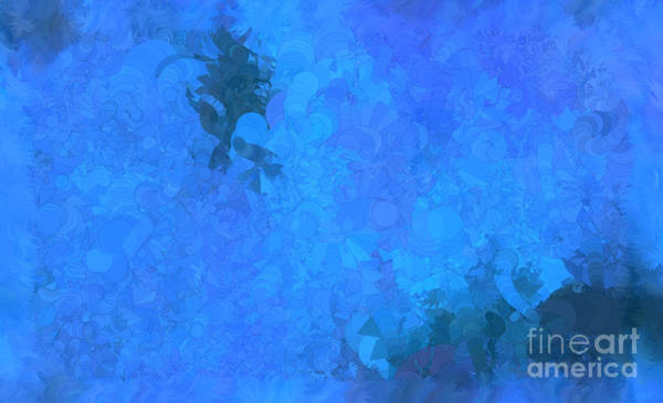 Nonprofit Digital Art - What Do You Want Blue by Holley Jacobs