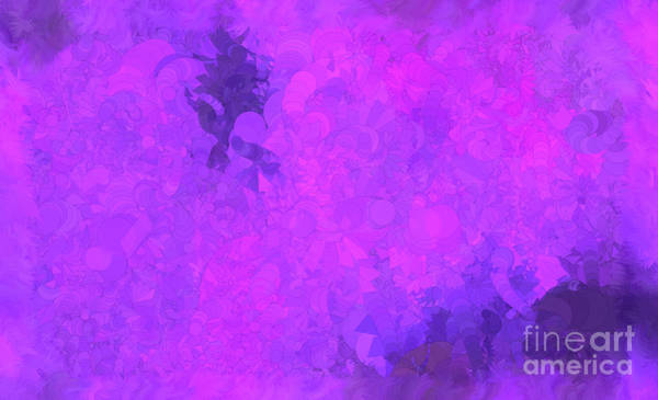 Nonprofit Digital Art - What Do You Want Purple by Holley Jacobs