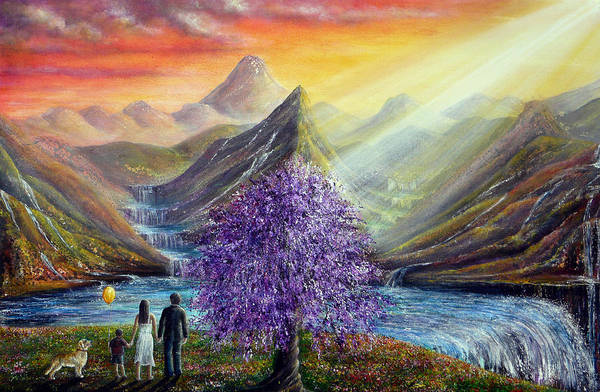 Beautiful Scenery Painting - What Dreams May Come by Ann Marie Bone