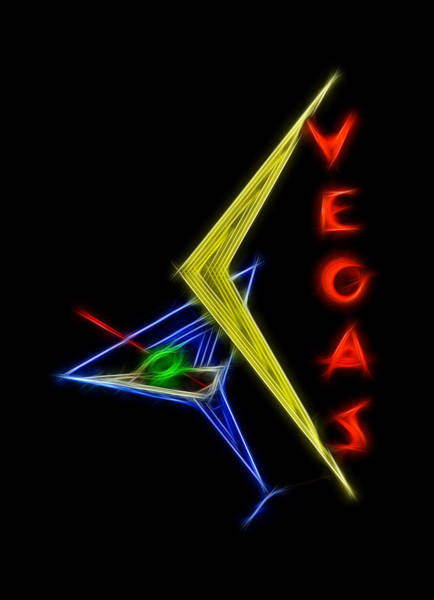Neon Lights Digital Art - What Happens In Vegas by Aged Pixel