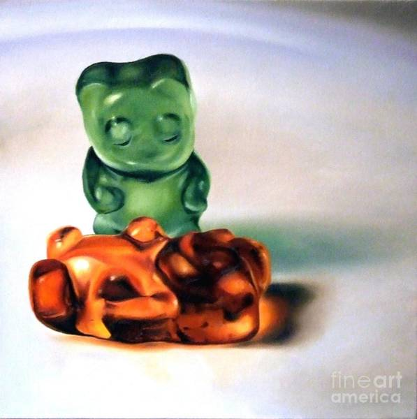 Gummy Bear Painting - What Have I Done by Katherine Kimball