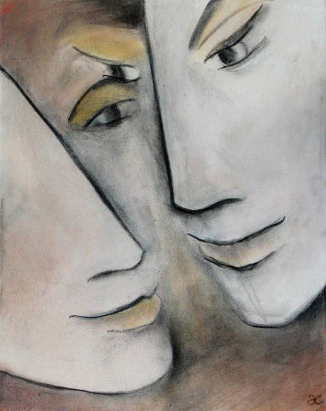 Painting - What Is The Space Between Two People 2 by Anna Elkins