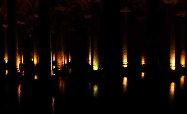 Basilica Cistern Photograph - What Lies Below by Lindsey Grafe