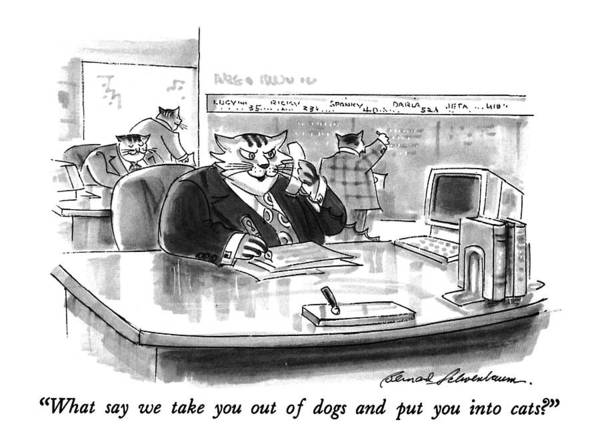 July 13th Drawing - What Say We Take You Out Of Dogs And Put by Bernard Schoenbaum