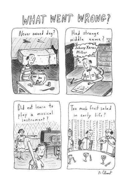 What Drawing - What Went Wrong? by Roz Chast