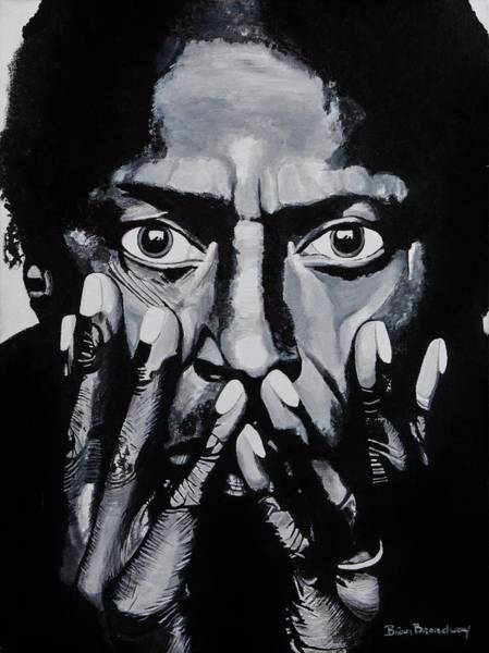Cool Jazz Wall Art - Painting - What Would Miles Say by Brian Broadway