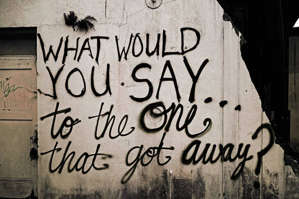 Photograph - What Would You Say To The One That Got Away by Louis Maistros