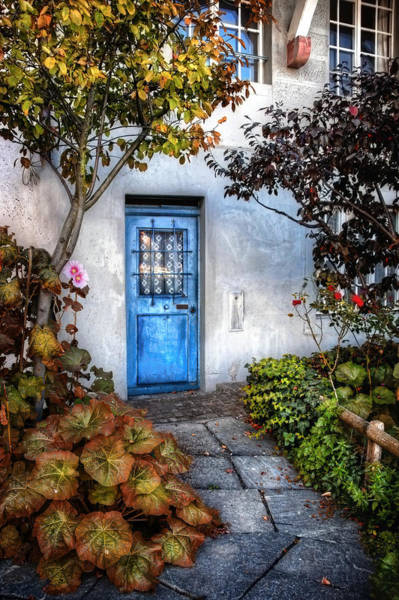Abode Photograph - What's Behind The Blue Door   Basel by Carol Japp