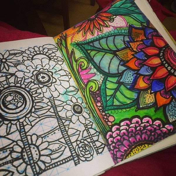 Wall Art - Photograph - Whats In My Sketchbook.. #doodles by Robin Mead