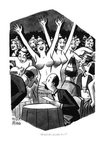 Attractive Drawing - What's The Specialty Here? by Peter Arno