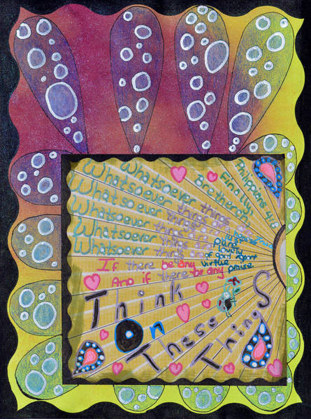 Bible Verse Mixed Media - Whatsoever by Donna Blackhall