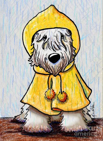 Terrier Digital Art - Wheatie In The Rain by Kim Niles