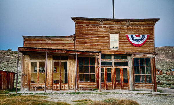 Bodie Ghost Town Wall Art - Photograph - Wheaton And Hollis Hotel At Blue Hour by Cat Connor