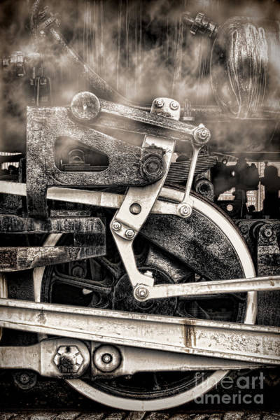Photograph - Wheel And Steam by Olivier Le Queinec