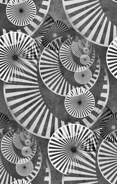 Speed Mixed Media - Wheel In The Sky Bw by Angelina Tamez