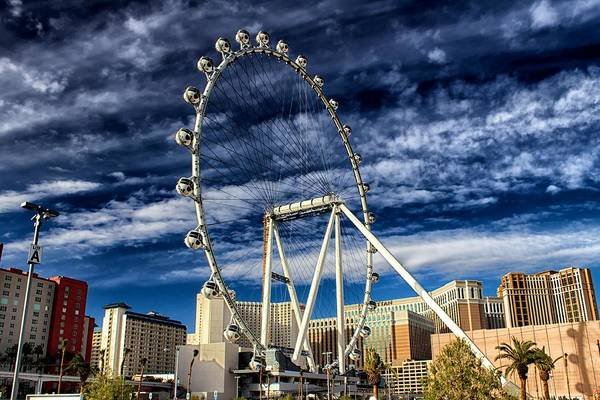 Photograph - Wheel In The Sky Las Vegas by Michael Rogers