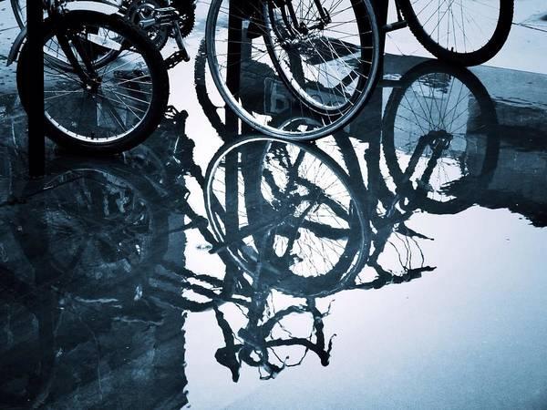 Bicycle Rack Photograph - Wheel Meet Again by Doug Stratton