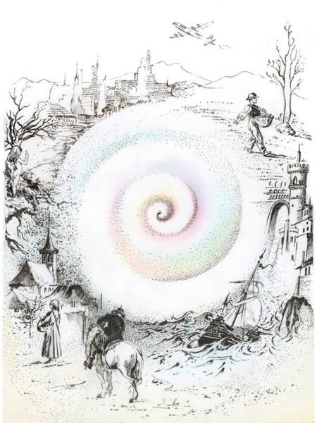Drawing - Wheel Of Reincarnation by Anna Ewa Miarczynska