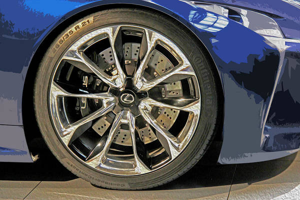 Carbon Fiber Photograph - Wheel Of The Future by Tom Gari Gallery-Three-Photography