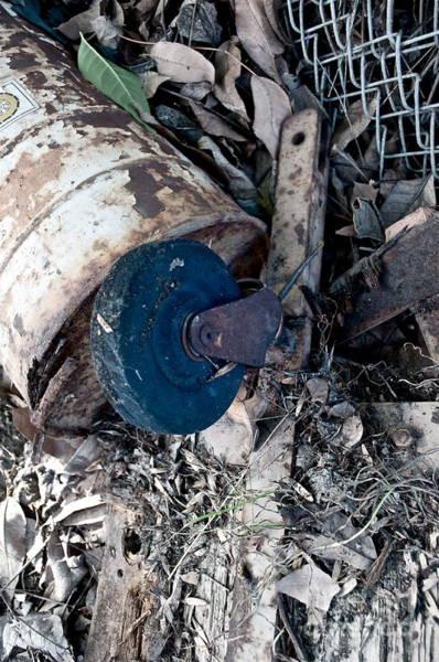 Rusty Chain Wall Art - Photograph - Wheel Picking by Gwyn Newcombe