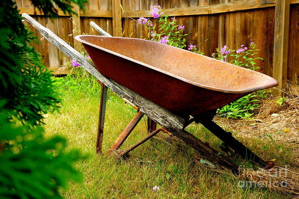 Photograph - Wheelbarrow by Jacqueline Athmann