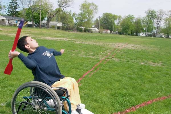 Javelin Photograph - Wheelchair Athletics by Jim West