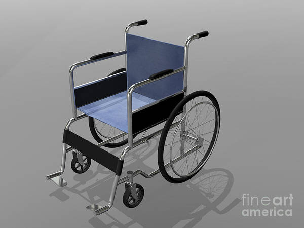 Assistance Digital Art - Wheelchair Illustration by Stocktrek Images
