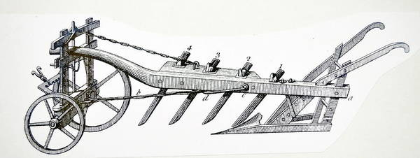 Wall Art - Photograph - Wheeled Plough With Four Coulters by Universal History Archive/uig