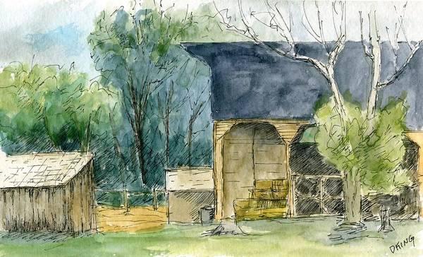 Painting - Wheeler Farm by David King