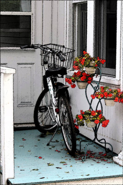 Wheels And Flowers Art Print