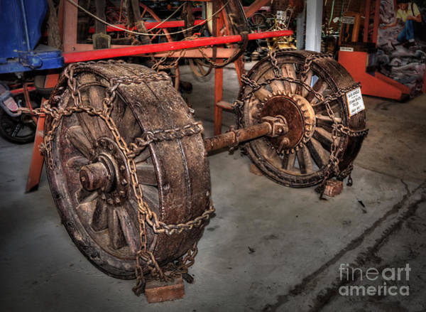 Wall Art - Photograph - Wheels Of Old Steam Wagon by Kaye Menner