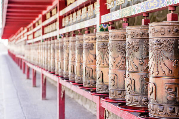 Chinese Language Photograph - Wheels Of Prayer by Jef King